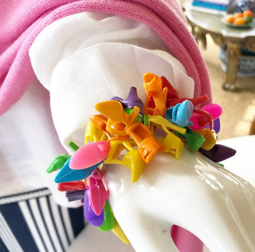 #5744 Multi color barbie shoe stretch bracelet