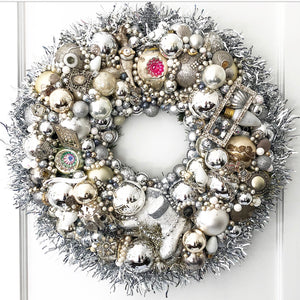 #7899 Custom Vintage Jewelry Wreath - Ready to ship