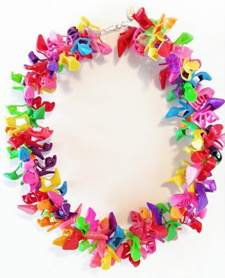 #2771 Barbie shoe necklace