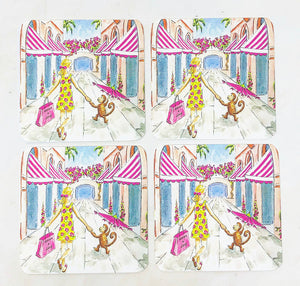 Addison + Lilly - Via Mizner - Coasters - Sets of 8