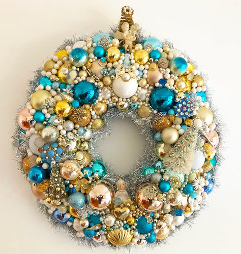 Custom Vintage Jewelry Wreath - Tiffany