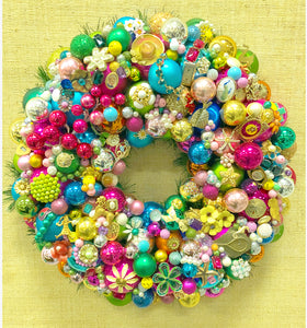 Custom Vintage Jewelry Wreath - Lily P.