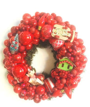 Custom Vintage Jewelry Wreath - Red