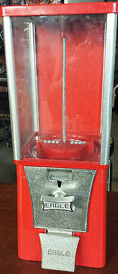Original Vintage GUMBALL & CANDY 25c MACHINE peanuts machine man cave kids