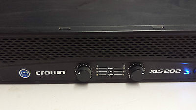 Crown XLS 202 Rack PowerAmp 2-Channel Power Amplifier Great Condition!