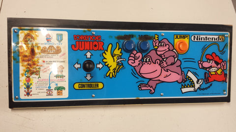 Nintendo Original Upright Donkey Kong Jr. Junior Control Panel with Joystick COM