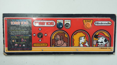 Original Nintendo Upright Donkey Kong Control Panel