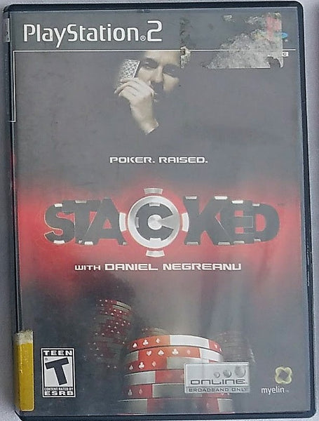 Stacked Poker Card Game Video Game with Manual for PS2 Console System