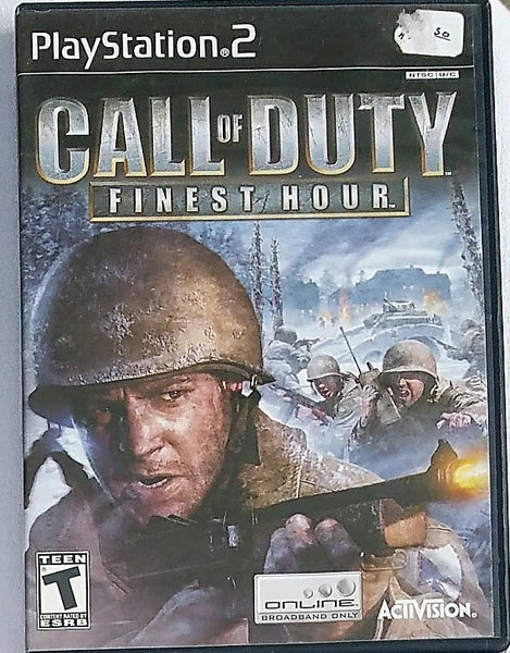 Call of Duty Finest Hour Video Game with Manual for PS2 Console System