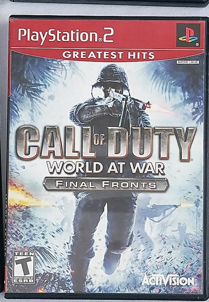 Call of Duty World at War Video Game with Manual for PS2 Console System