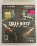 Call of Duty Black Ops Video Game with Manual for PS3 Console System