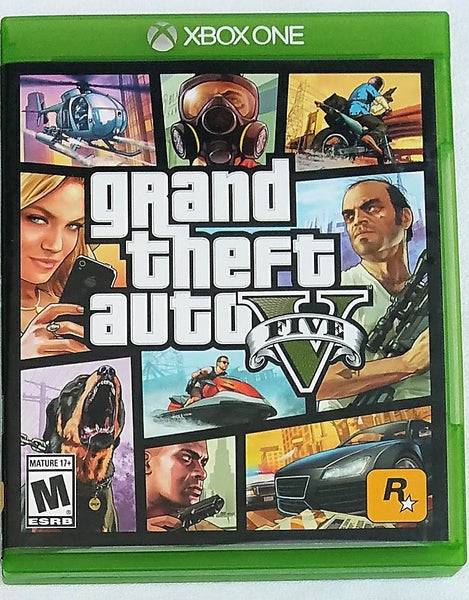 Grand Theft Auto Five (V) Video Game with Manual and Map for XBOX One Console System