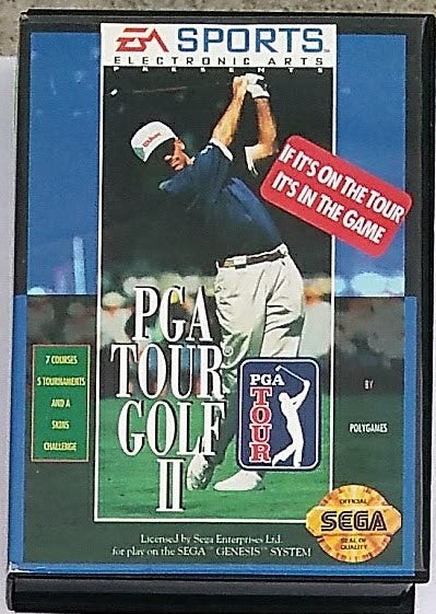 PGA Tour Golf II Video Game with Manual for the Sega Genesis Console System