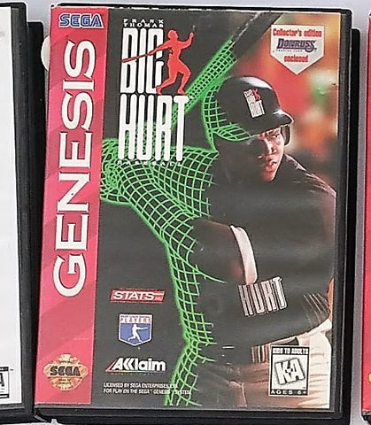 Frank Thomas Big Hurt Baseball Video Game with Manual for the Sega Genesis Console System