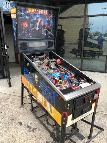 SOLD - Bally Johnny Mnemonic Pinball Machine - LEDs, plays so good! Super Underrated Pin!