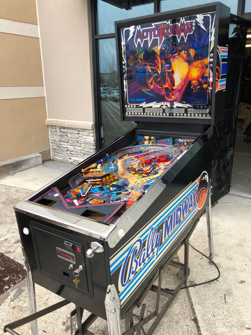 HUO Bally Motordome Pinball Machine - Just repaired and shopped w/LEDs! CHROME TRIM ADDED! This Game is Very Nice! Great for the Motorcycle Lover!