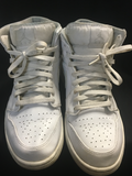 Nike Air Jordan 1 Mid 554724-104 White/Pure Platinum-White Sneakers Size 10
