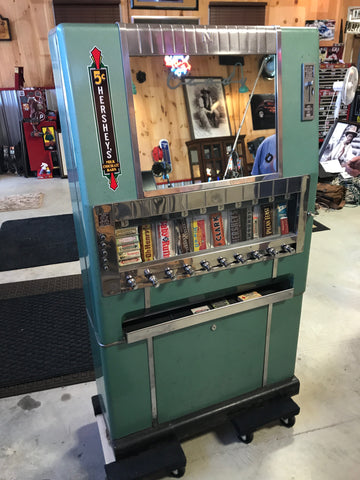 1950s National Candy Machine - Full of Vintage Original Candies and Gum! BEAUTIFUL!