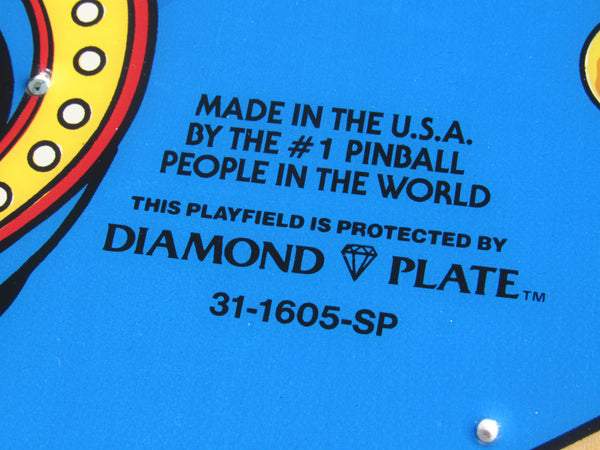 SOLD - NOS Diamond Plate Williams FUNHOUSE Playfield Cleared By Ron Kruzman  RARE