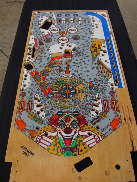 Williams Cyclone Clearcoated Playfield New CPR Gold - Cleared by HSA