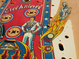Original Bally Evel Knieval Playfield - Restored - Clearcoated