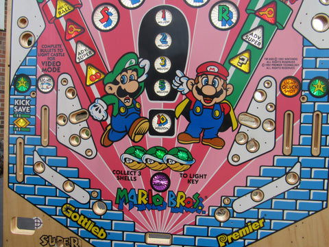 NOS Super Mario Bros. Playfield - Gottlieb Archive Example - New Never Used - Nintendo