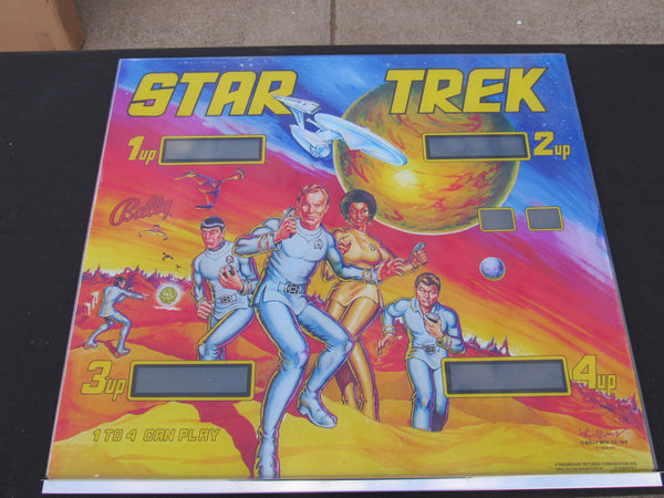 SOLD - NOS Bally Star Trek Backglass