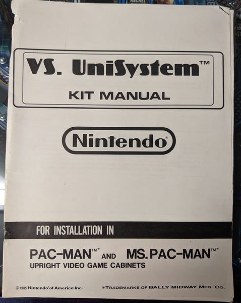 Pac-Man Ms. Pac-Man- Nintendo - Manual - Schematics - Instructions - Used Copy