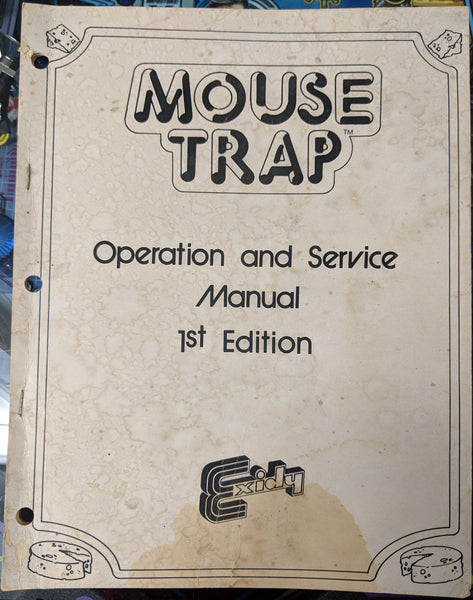 Mouse Trap - Manual - Schematics - Instructions - Used Copy