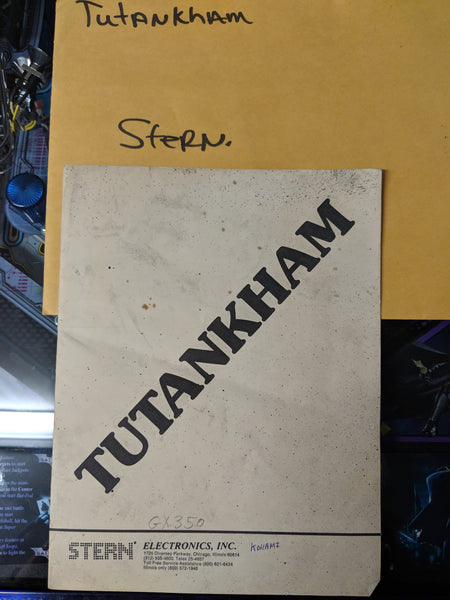 Tutankham - Stern - Manual - Schematics - Instructions -Used Copy