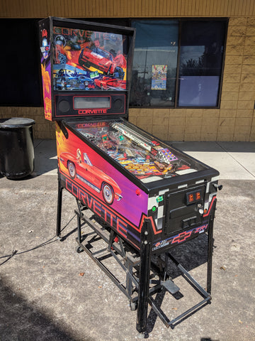 SOLD - Bally Corvette Pinball Machine! - Nice Game - Perfect for Car Guy or Vette Collector!