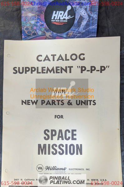Space Mission- Williams - Pinball Manual - Schematics - Instructions - Book - Original Used Copy - FREE SHIPPING!