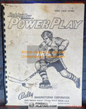Bobby Orr Power Play - Bally - Pinball Manual - Schematics - Instructions - Used Copy