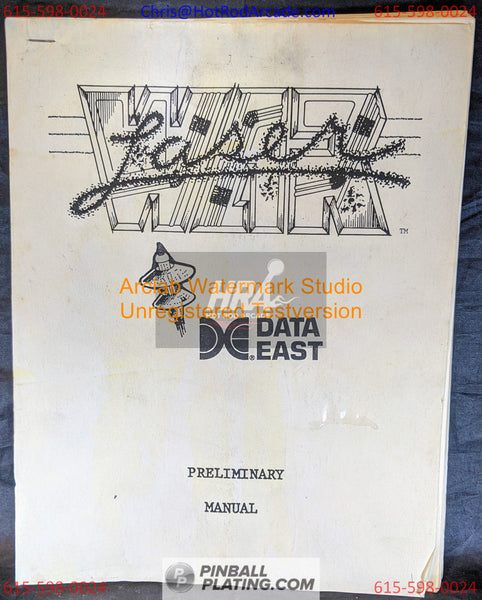 Laser War - Data East - Pinball Manual - Schematics - Instructions - Book - Original Used Copy - FREE SHIPPING!