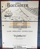 Buccaneer - Gottlieb - Pinball Manual - Schematics - Instructions - Book - Used Copy