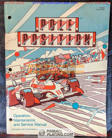 Pole Position - Atari - Arcade Manual - Schematics - Instructions - Used Copy