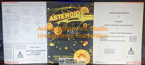 Asteroids (Copy #2) - Atari - Arcade Manual - Schematics - Instructions - Book - Original Used Copy - FREE SHIPPING!