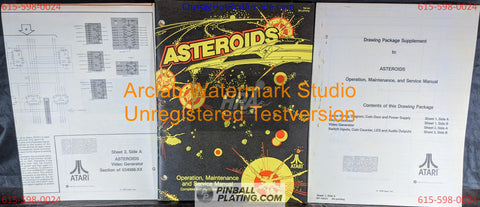 Asteroids (Copy #3) - Atari - Arcade Manual - Schematics - Instructions - Book - Original Used Copy - FREE SHIPPING!