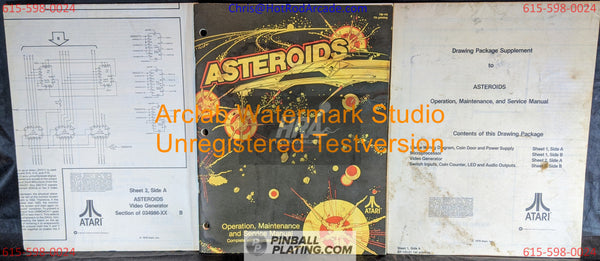 Asteroids (Copy #4) - Atari - Arcade Manual - Schematics - Instructions - Book - Original Used Copy - FREE SHIPPING!