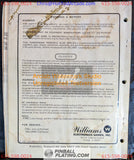 FIRE! - Williams - Pinball Manual - Schematics - Instructions -Used Copy