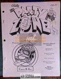 The Party Zone - Bally - Pinball Manual - Schematics - Instructions -Used Copy