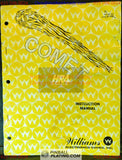 Comet - Williams - Pinball Manual - Schematics - Instructions - Used Copy