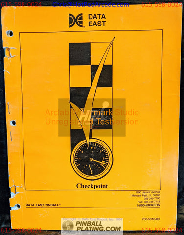 Checkpoint - Data East - Pinball Manual - Schematics - Instructions - Used Copy