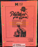The Phantom of the Opera - Data East - Pinball Manual - Schematics - Instructions - Used Copy