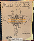Lost World - Bally - Pinball Manual - Schematics - Instructions - Book - Used Copy