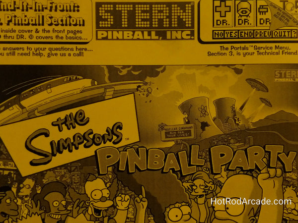 The Simpsons: Pinball Party - Stern - Pinball Manual  - Used Copy