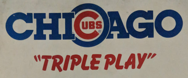 "Chicago Cubs ""Triple Play""- Premier Technology - Pinball Manual  - Schematics - Instructions - Book - Original Used Copy - FREE SHIPPING!"