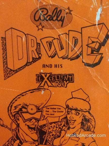 Dr Dude and His Excellent X Ray - Bally - Pinball Manual  - Schematics - Instructions - Used Copy