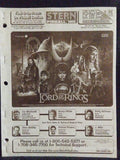 The Lord of the Rings - Stern - Pinball Manual  - Schematics - Instructions - Used Copy