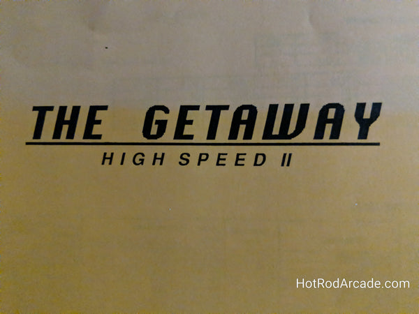The Getaway: High Speed 2 - WPC - Pinball Manual  - Schematics - Instructions - Book - Original Used Copy - FREE SHIPPING!